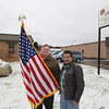 Record-Eagle/Keith King<br /> Veterans Jack Pickard, left, of Kingsley, and Calvin Murphy, of Bear Lake, stand outside the Traverse City Vet Center.