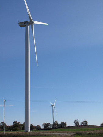 Record-Eagle file photo<br /> The Stoney Corners Wind Farm in Missaukee County.