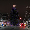 Record-Eagle/Jan-Michael Stump<br /> Traverse City's Holiday Tree sits lit up at the intersection of Front and Cass Streets on Thursday evening.