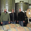 Record-Eagle/Bill O'Brien<br /> From left, Doug Matthies, Shawn Walters and Charlie Schmidt operate French Road Cellars, a new winery in Lake Leelanau that makes custom wines for other wineries in the region. The custom crush winery opened this fall.