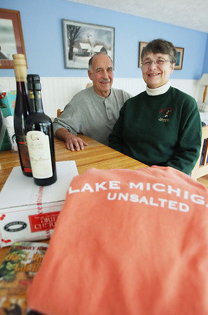 Record-Eagle/Keith King<br /> Chuck and Lynn Ebinger are purchasing only locally made gifts for Christmas.