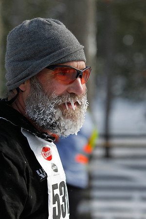 Record-Eagle/Jan-Michael Stump<br /> Freezing temperatures on Saturday left many skiers, like Mike Schaeffer, with icy beards at the North American Vasa.