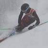 Record-Eagle/Jan-Michael Stump<br /> Traverse City West's Alex Podjes (555) takes his second giant slalom run in the Divison 1 regional championship Thursday at Shanty Creek Resort.