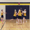 Record-Eagle/Lisa Perkins<br /> Traverse City Central High School's ninth-grade girls basketball coach had her team practice without shoes to illustrate what it would be like to not have any. The girls will be part of the third annual Hoops for Hope benefit to raise funds to purchase athletic shoes for local children in need.
