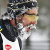 Record-Eagle/Jan-Michael Stump<br /> Freezing temperatures on Saturday left many skiers, like Karl Trost, with icy beards at the North American Vasa.