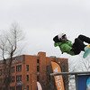 Record-Eagle file photo/Keith King<br /> Geordon Carter, 14, of Traverse City, competes in the rail jam during last year's Winter Wowfest.