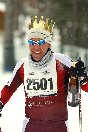 Record-Eagle/Jan-Michael Stump<br /> J.D. Downing, of Bend, Ore., won the 24k at Saturday's Vasa.