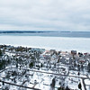 Record-Eagle/Douglas Tesner<br /> East Grand Traverse Bay has some ice forming in its southeast corner, though much of it remains open water, as seen from a U.S. Coast Guard helicopter.