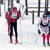Record-Eagle/Douglas Tesner<br /> Randey Bladel outsprints James Harrington and Rob Fox to the finish line in the 27K classic race.