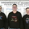 Record-Eagle/Lisa Perkins<br /> From left, Roy Wicht, Larry Harp and Mel Kitchen, members of the Antrim Snowmobile Club, begin a 20-day, 4,000-mile snowmobile adventure Tuesday, when they take part in the MichCanSka 2010 international charity ride from Sault Ste. Marie to Tok, Alaska. The ride benefits the Diabetes Research Institute.