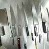 Record-Eagle/Jan-Michael Stump<br /> A few of Great Lakes Culinary Institute chef instructor Bob Rodriguez's knives.