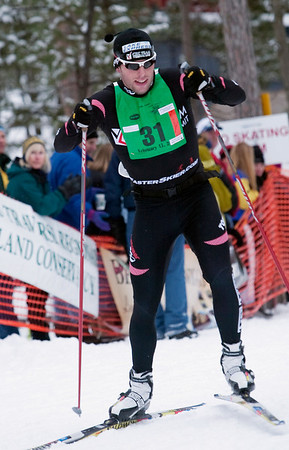 Record-Eagle/Douglas Tesner<br /> Traverse City's Ben Lannin finished second in the 50K freestyle.