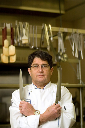 Record-Eagle/Jan-Michael Stump<br /> Great Lakes Culinary Institute chef instructor Bob Rodriguez teaches food prep as part of his garde manger class at the institute, and will be teaching a knife skills class at the upcoming Winter Festival of Foods.