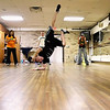 Record-Eagle/Keith King<br /> Andrei Dupra, of Traverse City, performs in a hip-hop dance class at Northwestern Michigan College. Dupra and some of his classmates plan to participate in the Dance Battle 4 the Cure on Saturday.