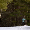 Record-Eagle/Jan-Michael Stump<br /> Karen Gerlando, of Traverse City, skis through a patch of sunlight on the Vasa Trail on Tuesday afternoon. Gerlando said she skies the trail 3 or 4 times a week. Wednesday's forecast calls for snow flurries and a high around 30 degrees.