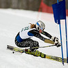 Record-Eagle/Jan-Michael Stump<br /> Traverse City Central's Maddey McLachlan runs the giant slalom in the state finals Monday at Boyne Highlands.