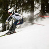 Record-Eagle/Jan-Michael Stump<br /> Traverse City Central's Clark Phelps runs the slalom in the  state finals Monday at Boyne Highlands.