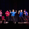 "Record-Eagle/Jan-Michael Stump<br /> ComedySportz present a competitive improv show between the ""red cherry pickers"" and the ""blue fudgies"" at the City Opera House Saturday during the Traverse City Comedy Arts Festival."