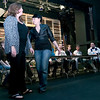 "Record-Eagle/Douglas Tesner<br /> Shakyran Eady, left, Ashleigh Hanchett and other cast members rehearse for the Old Town Playhouse musical ""Rent."""