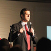 Record-Eagle/Jan-Michael Stump<br /> While speaking Sunday afternoon at Streeters, GOP presidential hopeful Rick Santorum tells supporters that the problems faced by steel towns of Pennsylvania were similar to those of Michigan's auto industry.