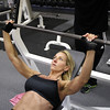 Record-Eagle/Keith King<br /> Roxann Kitchen-Smith, of Bellaire, works out at Fitness Factor in Traverse City.