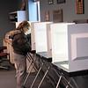 Record-Eagle/Art Bukowski<br /> Bonnie Davis votes in Garfield Township on Tuesday.