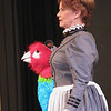 Record-Eagle/Jodee Taylor<br /> Nan Worthington portrays Polynesia, a 250-year-old parrot that teaches Doctor Doolittle, played by Loren Gardner, how to talk with the animals.