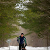 Record-Eagle file photo/Jan-Michael Stump<br /> Robert Bartle skis the Leelanau Trail near Dalzell Road with his dog Lucy.