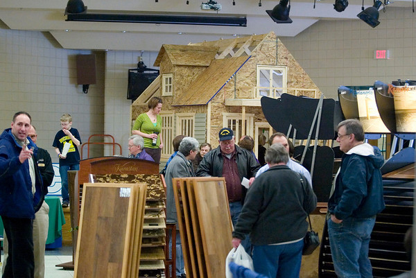 Record-Eagle/Jan-Michael Stump<br /> This weekend's Home Expo featured more than 80 vendors at Traverse City East Middle School.