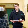 Record-Eagle/Jan-Michael Stump<br /> Kevin Knight Jr., a senior at Traverse City High School, receives free meals at school.