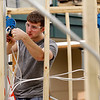 Record-Eagle/Jan-Michael Stump<br /> Charlie Reamer, of Kingsley ,competes in a Skills USA Skills residential wiring competition Friday at the Traverse City TBA-ISD Career Tech Center.