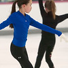 Record-Eagle/Douglas Tesner<br /> Niki Roxbury, 11, works on her skating skills at Center ICE.