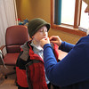 Record-Eagle/Alex Piazza<br /> Cole Chapman, 9, of Traverse City, receives his second dose of the H1N1 vaccine Wednesday afternoon at the Grand Traverse County Health Department's Public Services Building. Health officials recommend children under age 10 receive two doses of the vaccine.