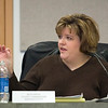 Record-Eagle/Jan-Michael Stump<br /> County Commissioner Representative Beth Freind talks about Department of Public Works attorney Michael Houlihan during Friday's Garfield Township Septage Finance S&W Sub Committee meeting at Garfield Township Hall.