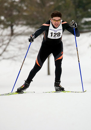 Record-Eagle/Jan-Michael Stump<br /> Robert Prust won the men's 40k race in the White Pine Stampede cross country ski race Saturday morning.