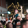 Record-Eagle/Jan-Michael Stump<br /> Crowds fill Front and Cass streets for Traverse City's downtown CherryT Ball Drop on Saturday night.