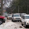 Record-Eagle/Jan-Michael Stump<br /> Traverse City commissioners will discuss how to move forward with their plans to improve or overhaul Division Street, seen here near 11th Street on Friday afternoon.