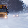 Record-Eagle/Douglas Tesner<br /> Traffic moves down Grandview Parkway amid blowing snow.