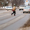 "Record-Eagle/Jan-Michael Stump<br /> ""It's kind of a mess right here,"" said Dugan Dubois, who waited for several minutes to cross Division Street at 11th Street on Friday afternoon before walking down the street and crossing at 10th Street. ""I hope they do something about it."" Traverse City commissioners will discuss how to move forward with their plans to improve or overhaul Division Street"