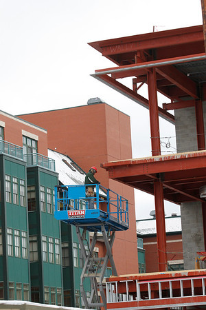 Record-Eagle/Jan-Michael Stump<br /> Most of the new commercial construction work is at Hagerty Insurance in Old Town, valued at more than $8 million.