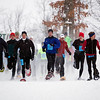 Record-Eagle file photo/Jan-Michael Stump<br /> Racers take off at the start of the 2008 Bigfoot Snowshoe Race at Timber Ridge.