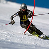Record-Eagle/Jan-Michael Stump<br /> Traverse City Central's Madison Mclachlan takes her first slalom run in the Titan Invite Thursday at Crystal Mountain.