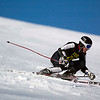 Record-Eagle/Jan-Michael Stump<br /> TC Central's Clark Phelps takes his first giant slalom run in the Titan Invite Thursday at Crystal Mountain.
