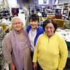Record-Eagle/Keith King<br /> Carol Ebright, left, assistant at the St. Vincent de Paul thrift store in Traverse City; Margaret Sophiea, center, president; and Barb Bates, store manager, stand Friday at the St. Vincent de Paul thrift store in Traverse City.