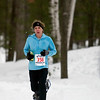 Record-Eagle/Jan-Michael Stump<br /> Renee Obert of Brighton was the first 10k women's finisher in Saturday's Bigfoot 5k and 10k Snowshoe Race at Timber Ridge.
