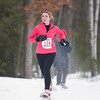 Record-Eagle/Jan-Michael Stump<br /> Katie Noble of Pinckney finished first in the women's 5k in Saturday's Bigfoot 5k and 10k Snowshoe Race at Timber Ridge.