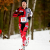 Record-Eagle/Jan-Michael Stump<br /> Yavo Middaugh of Traverse City was the first 10k men's finisher in Saturday's Bigfoot 5k and 10k Snowshoe Race at Timber Ridge.