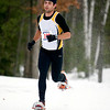 Record-Eagle/Jan-Michael Stump<br /> Kevin Tarras of Grawn finished first in the men's 5k in Saturday's Bigfoot 5k and 10k Snowshoe Race at Timber Ridge.
