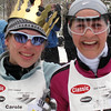 Record-Eagle/Denny Chase<br /> Carol Mueller-Brumbaugh, left, and Amy Kostrzewa after the Vasa 27K classic race last year.