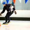 Record-Eagle/Jan-Michael Stump<br /> Phillip Zemaitis rounds a bend in the 300-meter race in Thursday's speed skating finals.